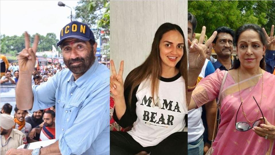 Inkl Esha Deol Congratulates Mother Hema Malini Stepbrother Sunny Deol For Their Lok Sabha Election Wins Hindustan Times