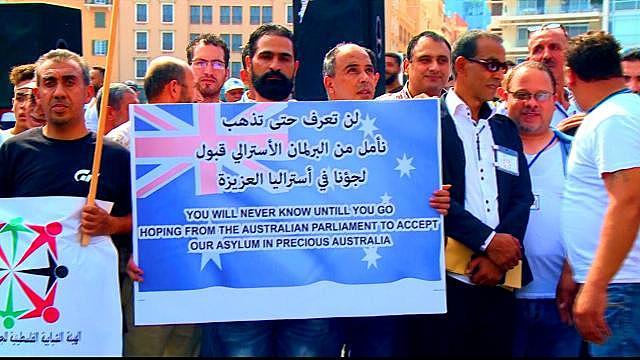 Inkl Palestinian Refugees Protest To Demand Asylum In Lebanon Al Jazeera